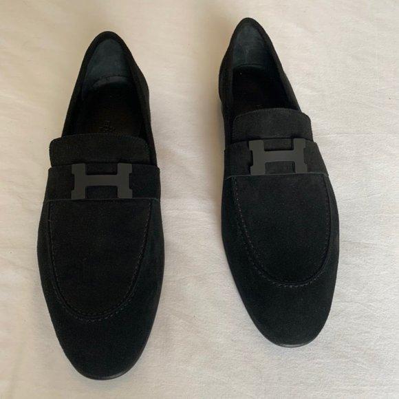 Hermes Other - Black Suede Hermes Paris Loafer -Unworn -Brand New